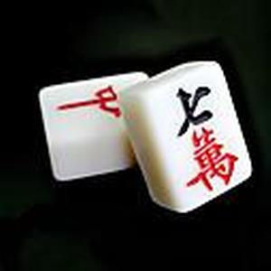 38mm Jade Mahjong mit Tischdecke zu Hause Spielzeug