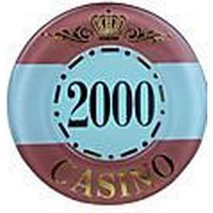 2000  Krone Gold Sperr gerundet Mahjong Chip-Suite mit Anti-Fake-Zeichen