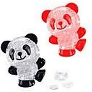 3d diy Flash Kristall panda Montage Bausteine Spielzeug für Kinder und Heimtextilien (53 Stück zufällige Farbe)