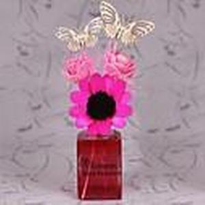 60ml stieg Reed Diffusoren mit Schmetterlingen und Blumen