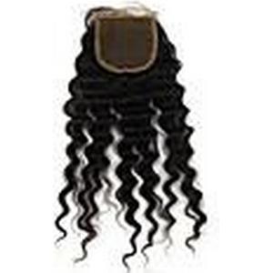 """1 Stück 16 """"brasilianische tiefe Welle vrigin Haar freien Stil natürliche Farbe Spitze Schließung"""