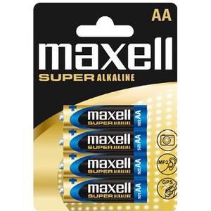 MAXELL 774409 MAXELL Super Alkaline Battery AA (LR-6XL) 4-pack Blister