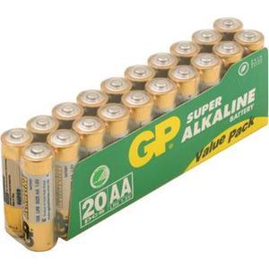 GP5508 GP Super Alkaline Battery LR6 Size AA 20-pack (15A-S20-LR6)