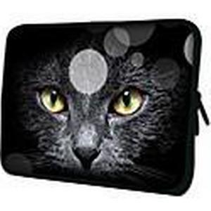 """Black Cat Face"" Pattern Nylon Material wasserdicht Hülle für 11 ""/ 13"" / 15 ""Laptop  Tablet"
