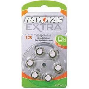 Rayovac EXTRA kvicksilverfritt 13 ORANGE 6 st
