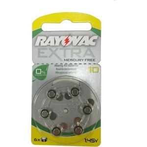 Rayovac EXTRA kvicksilverfritt 10 GUL 6 st