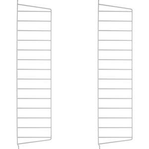 String furniture Stringhylla väggavel - grå, 75x20 cm, 2-pack