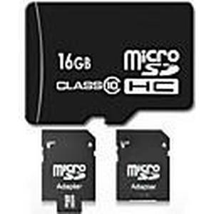 16GB Class 10 Micro SD SDHC TF Flash-Speicherkarte mit SD-Adapter