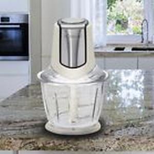 300 Watt Design Multi Hacker Edelstahl Messer Glas Mix Behälter Creme Farben
