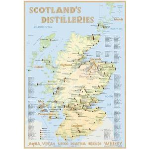 Alba-collection Whisky Distilleries Scotland – Poster 70 x 100 cm – Premium Edition