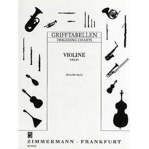 Zimmermann Verlag Grifftabelle Violine