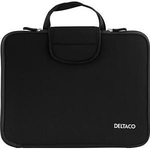 """Deltaco 13,3"""" notebookfodral i neopren, bärhandtag"""