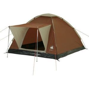 10T Brownville 3 - Klassisches 3-Personen Kuppel-Zelt mit Wetterschutz-Eingang eingenähte Bodenplane WS=3000mm