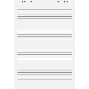 Star Music Paper Flip Chart Pad 4
