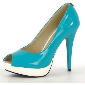 Damen Pumps Klassische Pumps - Blau Weiß
