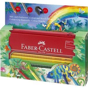 BBM Faber-Castell – Colour GRIP Mal- und Zeichenset Dschungel