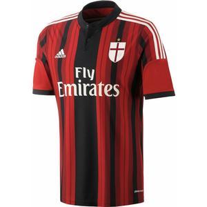 Adidas AC Mailand ACM Fußball Trikot Home 2014 2015 Kinder schwarz rot Größe 152