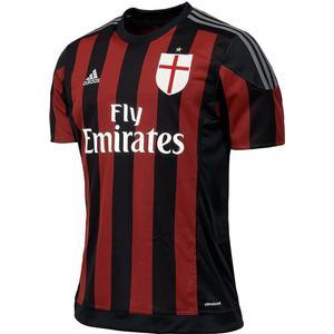 Adidas AC Mailand Fussball Home Trikot 2015 2016 Herren kurzarm schwarz rot S