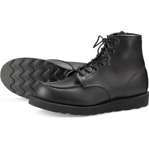 Red Wing Shoes Style no 8137 6-inch Moc Toe - Black Skagway, Red Wing