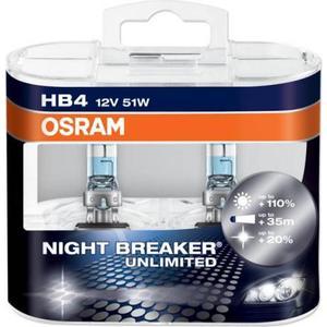Osram HB4 9006NBU Halogen Lamps 2-pack