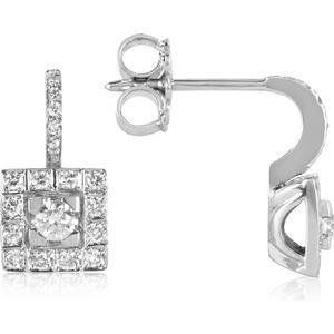 0.48ctw Diamant-Ohrringe aus 18k Weißgold