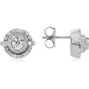 0.84ctw Diamanten-Ohrringe aus 18k Weißgold