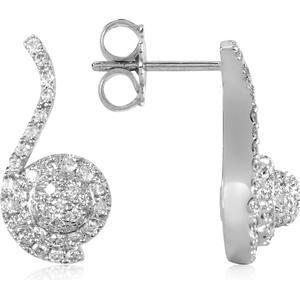 0.68 ctw Diamanten-Ohrringe aus 18k Weißgold