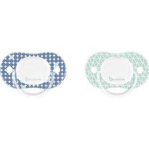 Babies ´R´ Us Badabulle – Schnuller Silikon 2er Pack blau/grün, Gr. 3