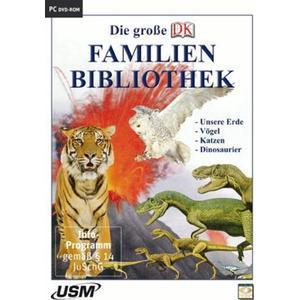 United Soft Media Die große Dorling Kindersley Familienbibliothek - Unsere Erde, Katzen, Vögel und Dinosaurier (DVD-ROM)