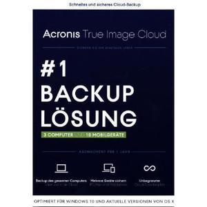 Acronis True Image Cloud 2016 für 3 PCs + 10 Geräte, DVD-ROM