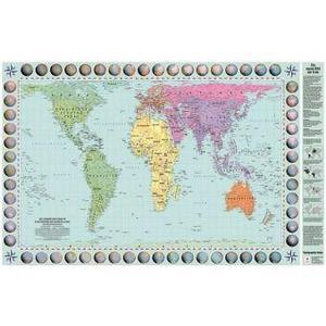 Akademische Verlagsanst. Peters Orthogonale Weltkarte Posterkarte