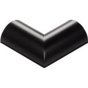 00095896 Verbindungsstück ´´L´´-Form für Alu-Kabelkanal halbrund 33 mm (Schwarz)