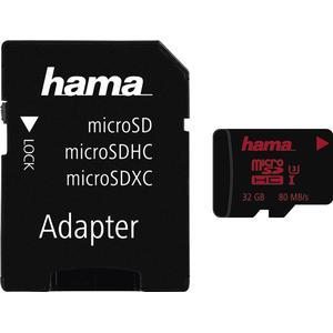 00027730 microSDHC 32GB UHS Speed Class 3 UHS-I 80MB/s + Adapter (Schwarz)