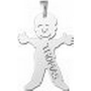 Anhaenger Junge in Silber mit Gravur