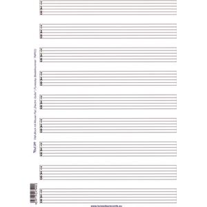 Tunesday Records Tab Music Paper Mousepad