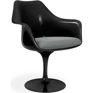 Eero S. Tulip Armchair-Cashmere-grey-Black