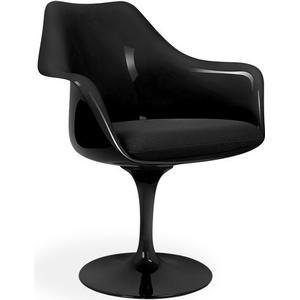 Eero S. Tulip Armchair-Cashmere-Black-Black