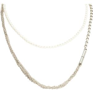 25 Pieces 3-teilige Langkette aus Sterlingsilber mit Perlen