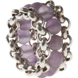 25 Pieces Ring aus Sterlingsilber mit Amethyst-Kugeln