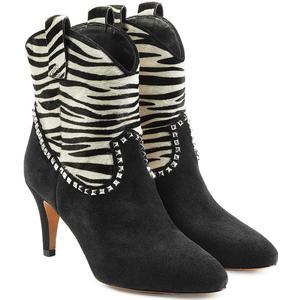 Marc Jacobs Ankle Boots aus Veloursleder und Kalbsfell