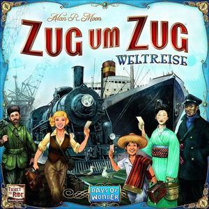 Asmodee DOW0003 - Zug um Zug Weltreise, Familienspiel