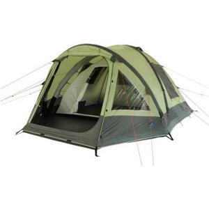 10T Camping-Zelt Ceres 5 aufblasbares AirTube Kuppelzelt mit Schlafkabine für 5 Personen Outdoor Familienzelt mit Wohnraum, eingenähte Bodenwanne, wasserdicht mit 5000mm Wassersäule inkl. Pumpe