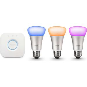 Philips Hue White And Color Ambiance LED Lamp 10W E27 3 Pack Wireless Control