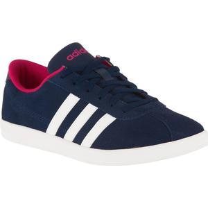 ADIDAS Sneaker VL Court Freizeitschuhe Damen blau/rosa, Größe: 38