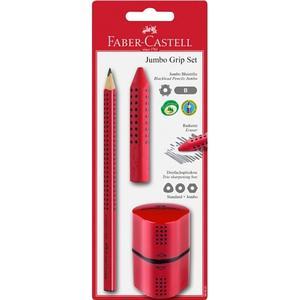 BBM Faber-Castell – Bleistiftset Jumbo Grip, rot