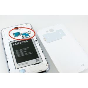 Samsung Galaxy Note 2 Simkortläsare byte