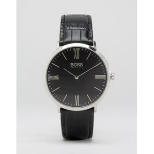BOSS By Hugo Boss - Ultra Jackson - Schwarze Uhr mit schmalem Lederarmband - Schwarz