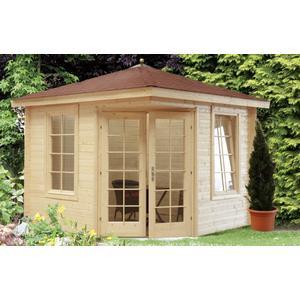 5-Eck-Gartenhaus 280x280cm Holzhaus Bausatz Doppeltr mit Fenster