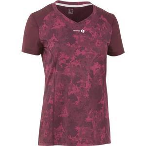ARTENGO T-Shirt Soft 500 Tennisshirt Damen bordeaux, Größe: EU 40 DE 38