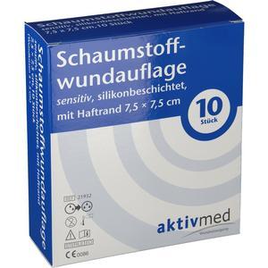 Aktivmed GmbH aktivmed Schaumstoffwundauflage sensitiv 7,5 x 7,5 cm